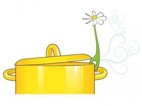 花朵动力厨房蒸汽散热器