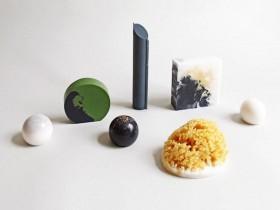 抽象图案塑形香皂