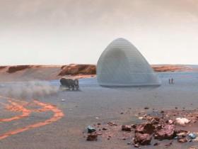 火星人居所概念设计头奖:火星冰屋