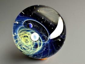 玻璃球作品:球形微宇宙