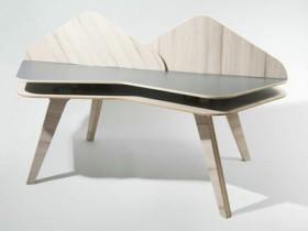 自由拼合模块桌:Tesella Desk