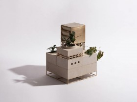 微型建筑花盆:Plantscape