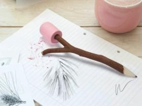 棉花糖树枝铅笔:Marshmallow